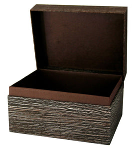 Large/Adult 220 Cubic Inch Antique Brown Chest Earthurn Cremation Urn For Ashes