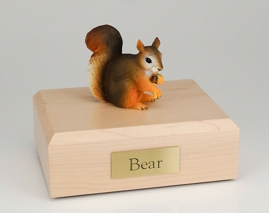 Squirrel Figurine Wildlife Cremation Urn Available in 3 Diff. Colors & 4 Sizes