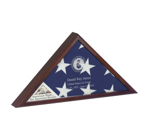 Cherry Veteran Flag Case for 5' X 9.5' Flag, Cremation Urn Available