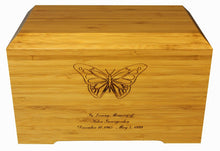 Load image into Gallery viewer, Large/Adult 245 Cubic Inches Tribute Bamboo Funeral Cremation Urn for Ashes