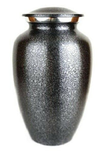Small/Keepsake 3 Cubic Inch Speckled Steel Gray Brass Cremation Urn for Ashes
