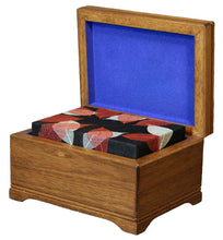 Load image into Gallery viewer, Autumn Leaves Insert for Mahogany Biodegradable Memory Chest Cremation Urn