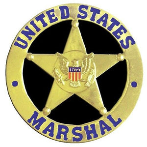 US Marshall (Gold) Medallion for Box Cremation Urn/Flag Case - 3 Inch Diameter