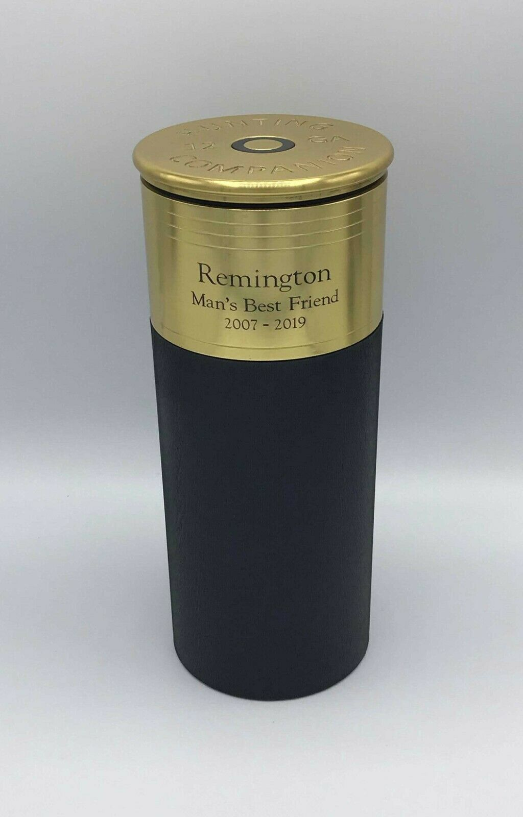 Shotgun Shell Urn Black 100 Cubic Inch Funeral Pet Cremation Urn With Engraving