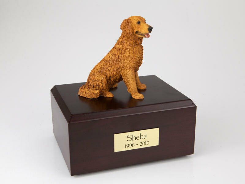 Golden Retriever Golden Pet Cremation Urn Available in 3 Diff Colors & 4 Sizes