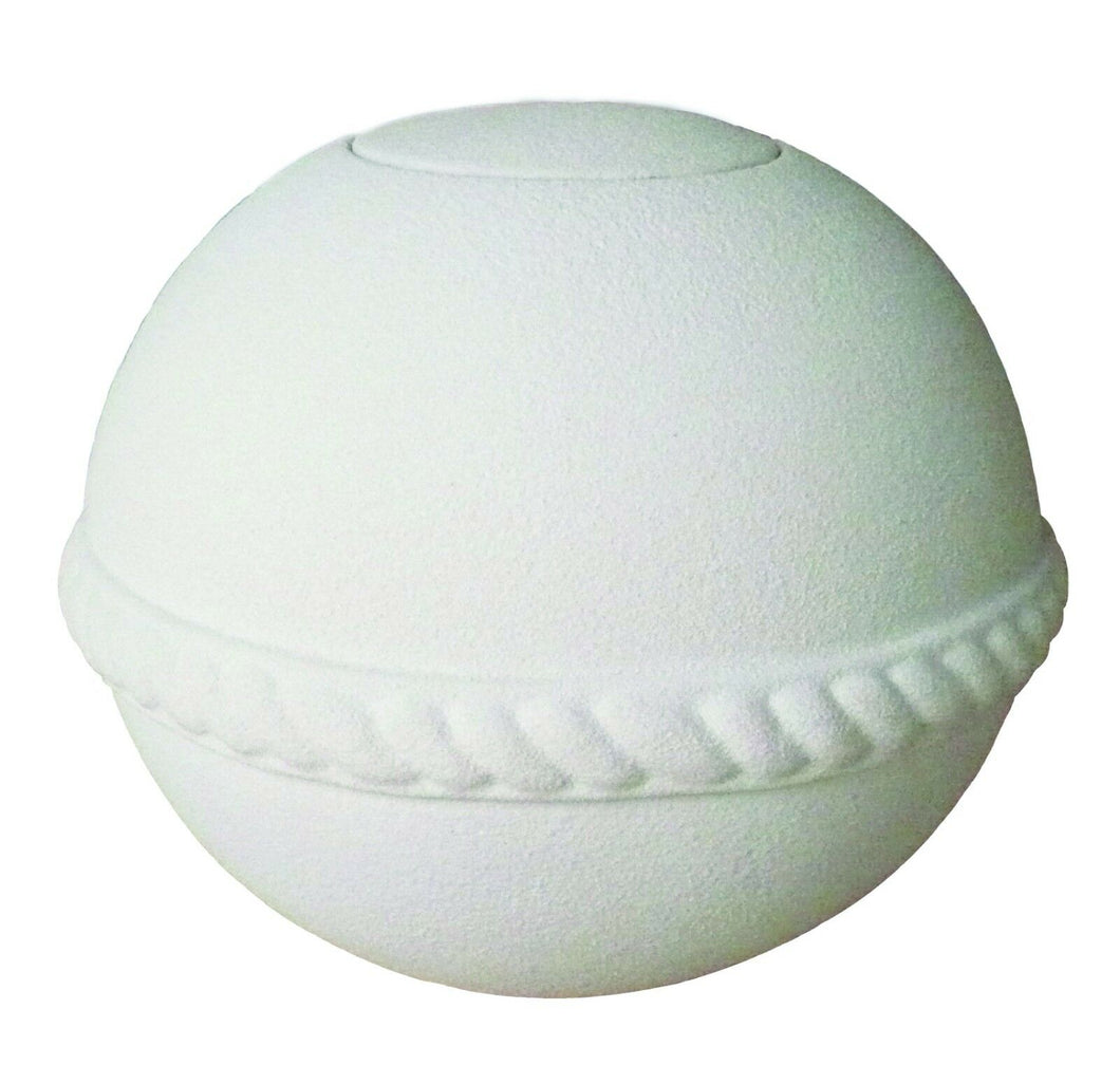 Biodegradable, Round Quartz Keepsake Gelatin Funeral Cremation Urn