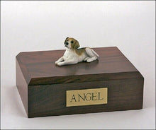 Load image into Gallery viewer, Beagle Pet Funeral Cremation Urn, Engraved. Available 3 Different Colors 4 Sizes
