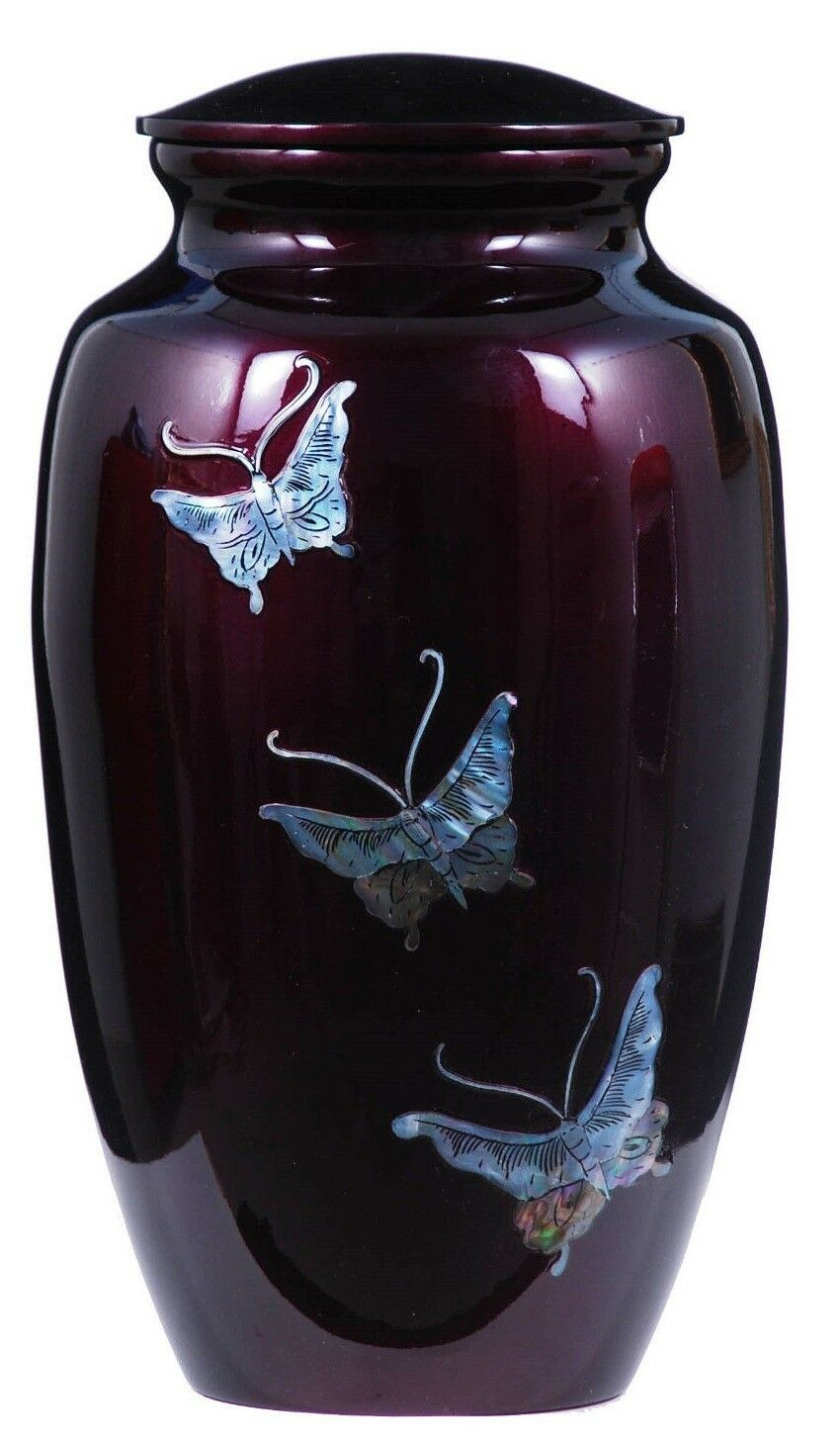 Butterfly Tranquility 210 Cubic Inches Large/Adult Cremation Urn for Ashes