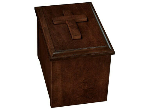 Howard Miller 800-229 (800229) Faith Wood Funeral Cremation Urn Chest w/ Cross