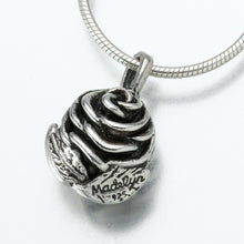 Load image into Gallery viewer, Sterling Silver Rose Memorial Jewelry Pendant Funeral Cremation Urn