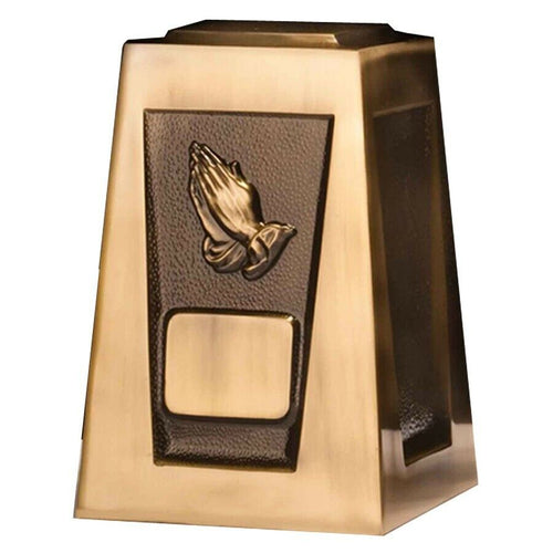 Large/Adult 205 Cubic Inch Olympus Praying Hands Funeral Cremation Urn for Ashes