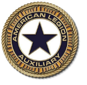 "American Legion Auxiliary Medallion for Box Cremation Urn/Flag Case- 2"" Diameter"