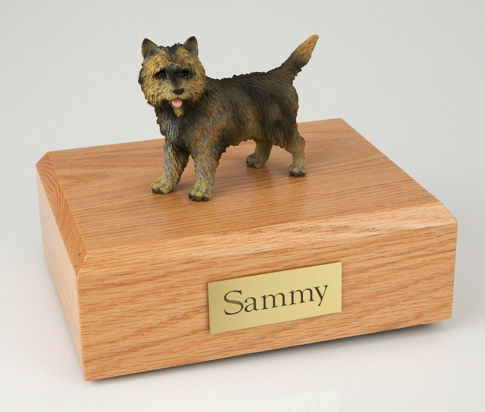 Cairn Terrier Pet Funeral Cremation Urn Avail in 3 Different Colors & 4 Sizes