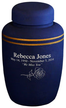 Load image into Gallery viewer, Pale Blue Cornstarch 238 Cubic Inches Large/Adult Funeral Cremation Urn