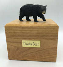 Load image into Gallery viewer, Black Bear Figurine Wildlife Cremation Urn Available in 3 Diff. Colors & 4 Sizes