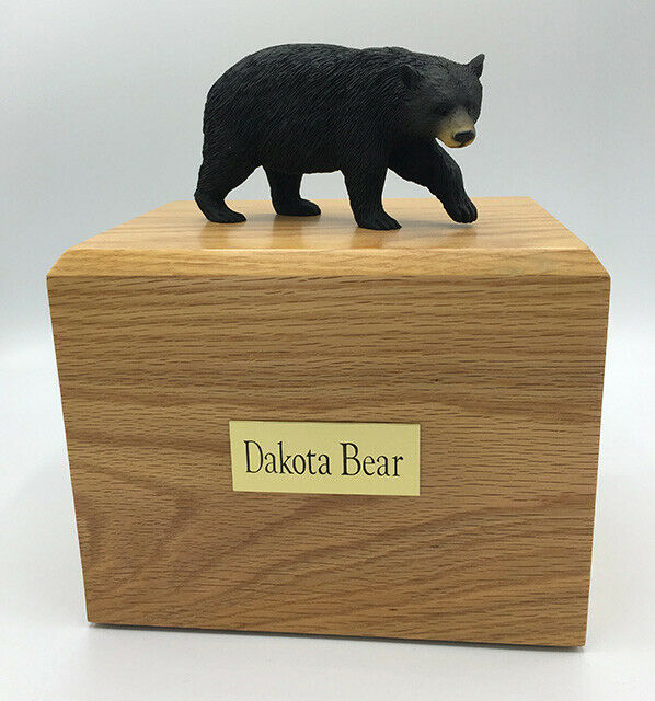 Black Bear Figurine Wildlife Cremation Urn Available in 3 Diff. Colors & 4 Sizes