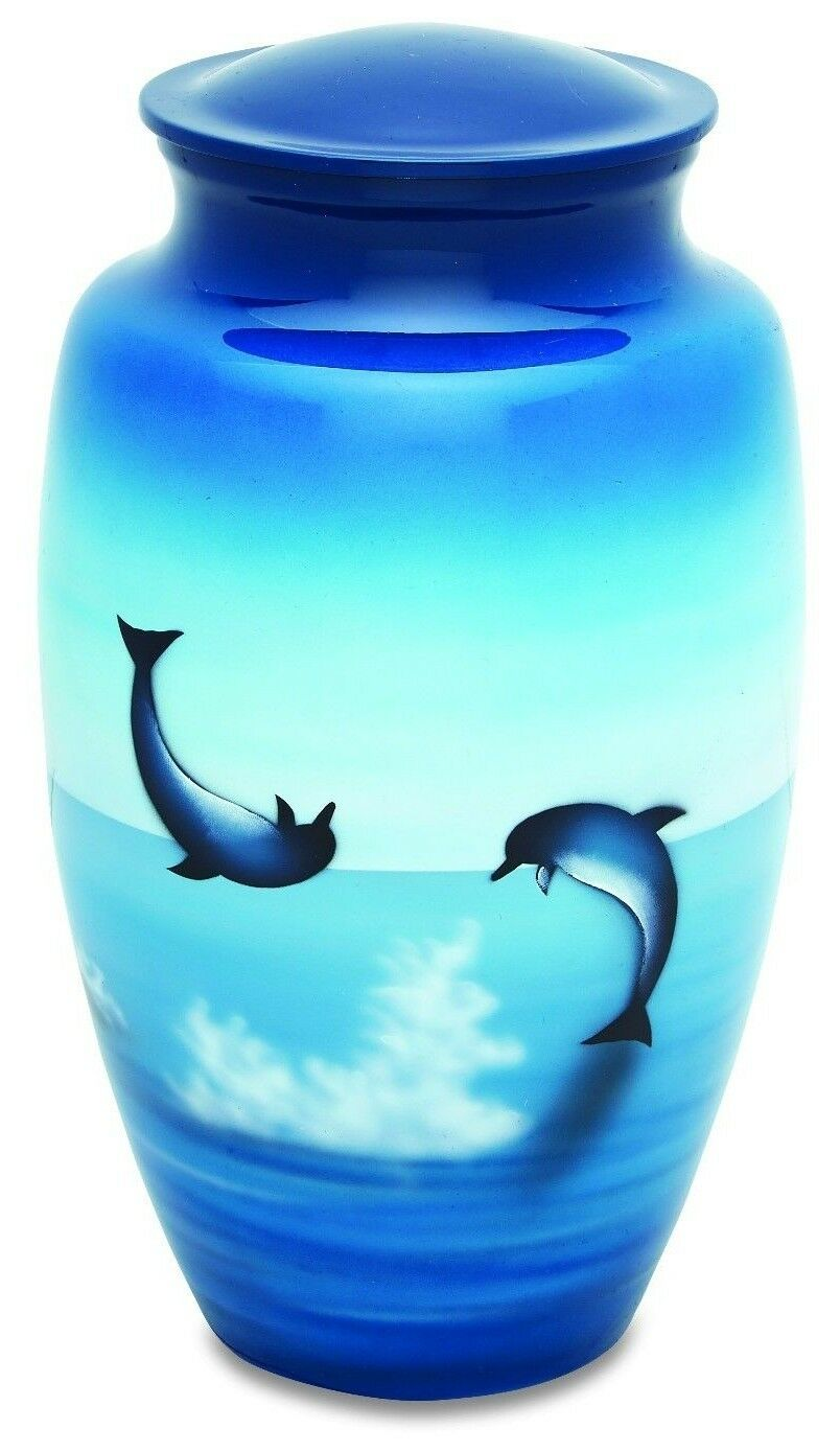 Frolicking Dolphins 210 Cubic Inches Large/Adult Cremation Urn for Ashes
