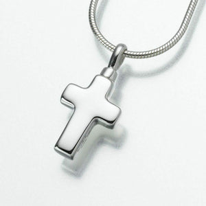 Sterling Silver Small Cross Memorial Jewelry Pendant Funeral Cremation Urn