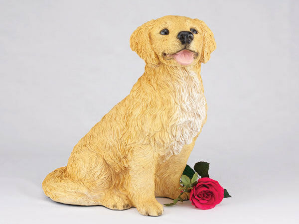Extra Large 346 Cubic Inches Golden Retriever Resin Urn for Cremation Ashes