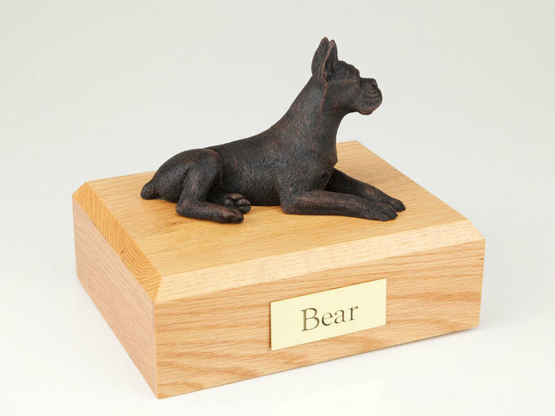 Boxer Pet Funeral Cremation Urn Engraved Available in 3 Different Colors 4 Sizes