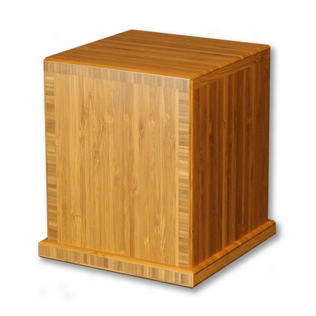 Biodegradable Eco-friendly Bamboo Adult Funeral Cremation Urn, 210 Cubic Inches