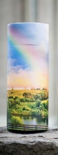 Small/Keepsake 90 Cubic In. Rainbow Scattering Tube Cremation Urn for Ashes