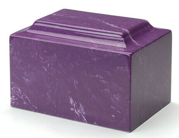 Classic Marble Amethyst Keepsake Cremation Urn, 25 Cubic Inches, TSA Approved