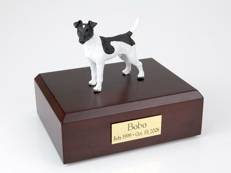 Fox Terrier Pet Funeral Cremation Urn Available in 3 Different Colors & 4 Sizes