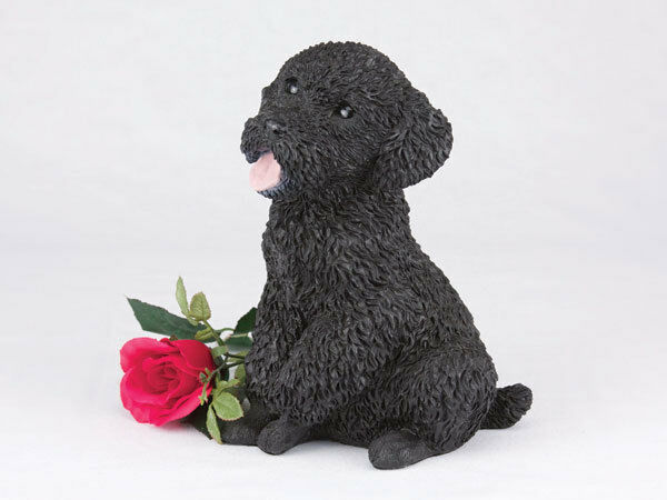 Small/Keepsake 65 Cubic Inches Black Miniature Poodle Resin Urn for Ashes