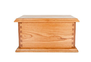 Large/Adult Craftsman 280 Cubic Inches Wood Box Funeral Cremation Urn for Ashes