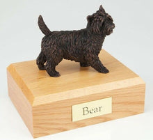 Load image into Gallery viewer, Cairn Terrier Pet Funeral Cremation Urn Available 3 Different Colors & 4 Sizes