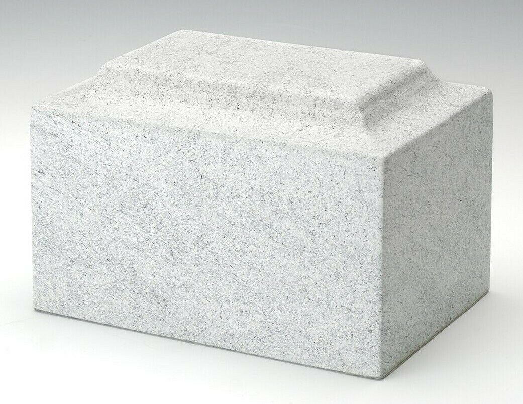 Stone-Tone Gray Granite Oversized 325 Cubic Inches Cremation Urn, TSA Approved