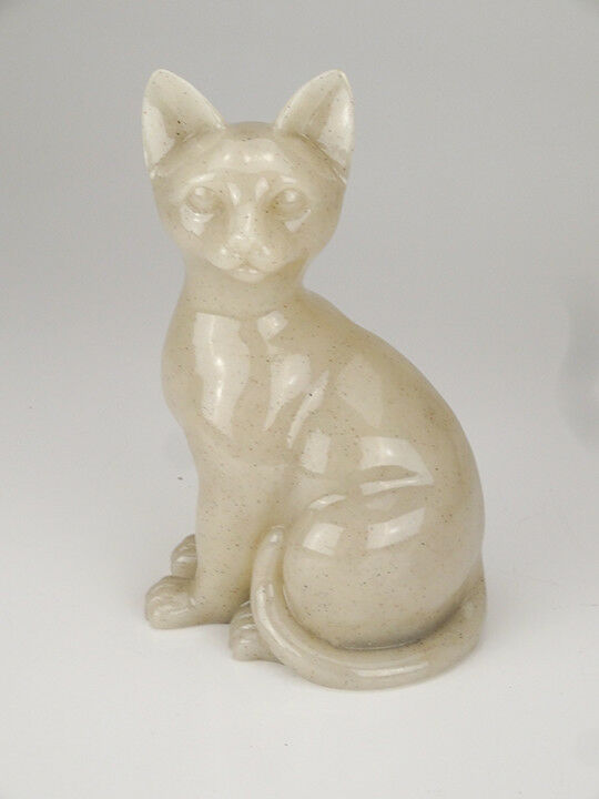 30 Cubic Inches Faithful Feline Urn in Sitting Position for Cremation Ashes