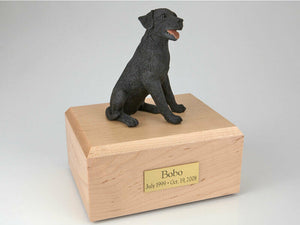 Labrador Black Sitting Figurine Dog Pet Cremation Urn Avail 3 Diff Colors 4 Size