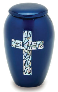 Blue Cross 3 Cubic Inches Small/Keepsake Funeral Cremation Urn for Ashes