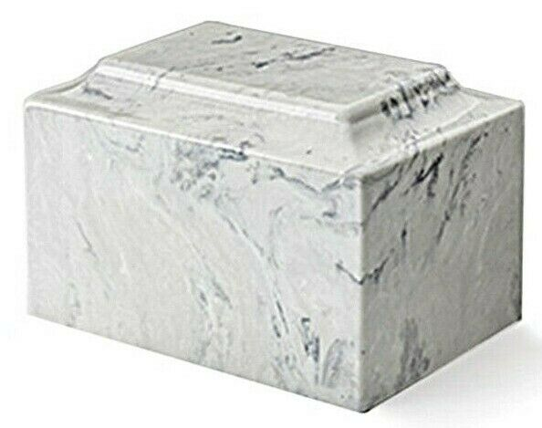 Classic Marble Carrera Adult Funeral Cremation Urn, 210 Cubic Inch TSA Approved