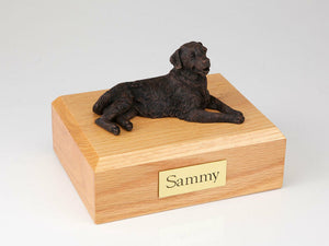 Golden Retriever Bronze Pet Funeral Cremation Urn Avail in 3 Diff Colors 4 Sizes