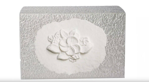 XLarge 300 Cubic Inch Biodegradable Box Cremation Urn w/Cotton Flowers at Peace