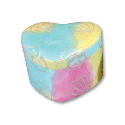 Biodegradable Ecofriendly Pastel Adult/Large Heart Cremation Urn, 200 Cubic Inch