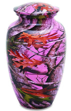 Load image into Gallery viewer, Pink Camo 210 Cubic Inches Large/Adult Funeral Cremation Urn for Ashes