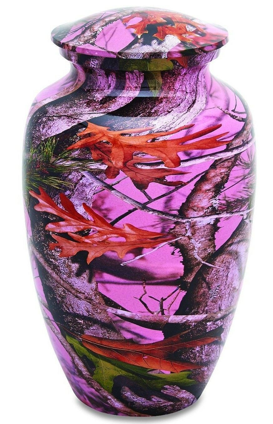 Pink Camo 210 Cubic Inches Large/Adult Funeral Cremation Urn for Ashes