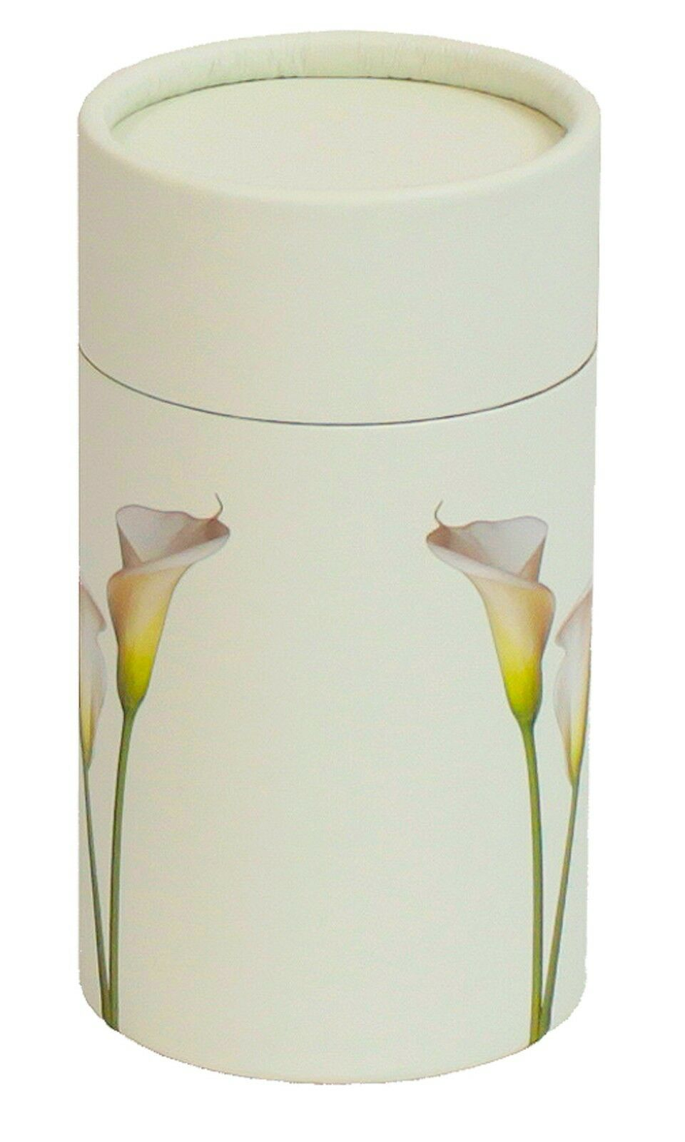 Biodegradable Lily Ash Scattering Tube Funeral Cremation Urn - 20 cubic inches