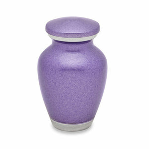 Small/Keepsake 3 Cubic Inches Violet Blush Funeral Cremation Urn for Ashes