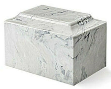 Load image into Gallery viewer, Classic Marble Carrera 100 Cubic Inches Funeral Cremation Urn Ashes TSA Approved