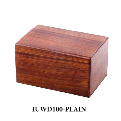 Large/Adult 200 Cubic Inch Rosewood Plain Funeral Cremation Urn for Ashes