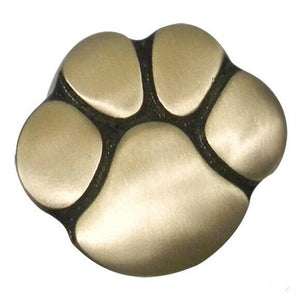 Small/Keepsake 5 Cubic Inch Gold Paw Print Pet Funeral Cremation Urn for Ashes