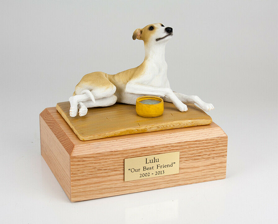 Greyhound Tan Color Stand Pet Cremation Urn Available in 3 Diff Colors & 4 Sizes