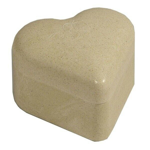 Small/Keepsake 55 Cubic Inch Biodegradable Heart Bamboo Pet Burial Pod