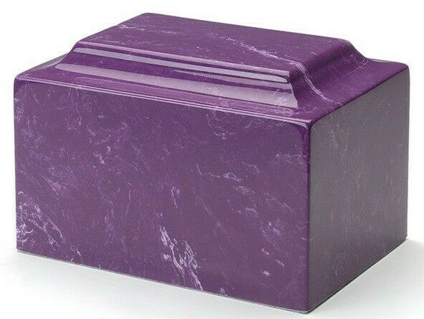 Classic Marble Amethyst 100 Cubic Inch Funeral Cremation Urn Ashes TSA Approved