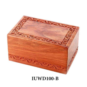 Large/Adult 200 Cubic Inch Rosewood Tree Border Funeral Cremation Urn for Ashes